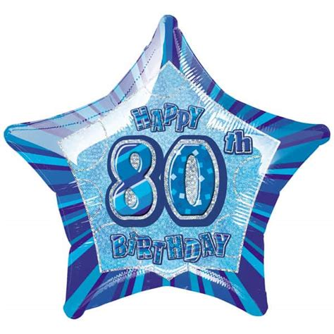 Age 20 S Blue blue glitz age 80 birthday 20 quot balloon partyrama co uk