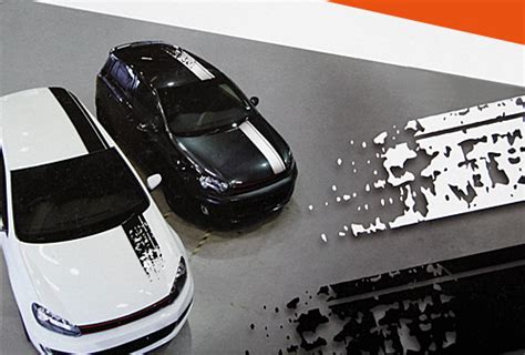 Autofolien Design Streifen by Foliatec Car Design Stripes Farbe Wei 223 Matt White Sticker