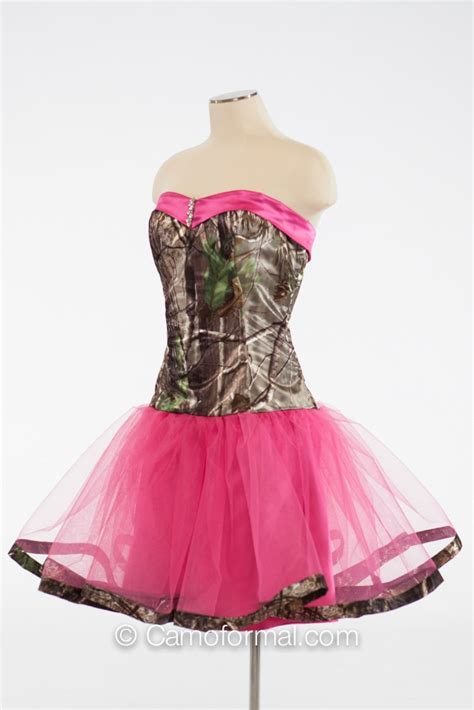 "* 3660 ""Payton"" Short Sweetheart Dress with Camo Trim"