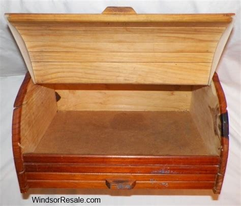 Bread Bin With Drawer by Wooden Bread Box With Drawer