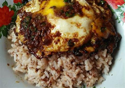 resep nasi telor ceplok ala ayong  pontianak oleh kiki