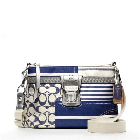 coach swing pack snap n zip fashion accessories coach poppy patchwork