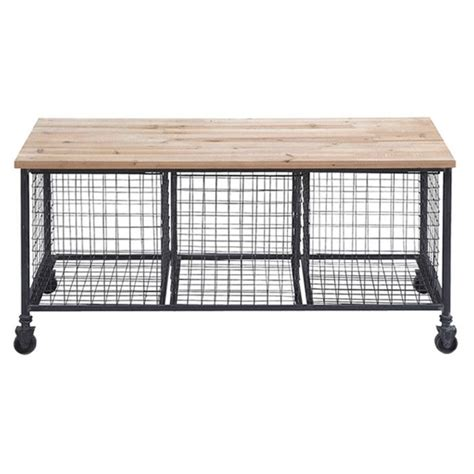 storage bench seat with baskets bedford storage bench from joss main industrial style