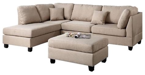 sectional sofa ottoman fabric reversible 3 sectional chaise sofa set