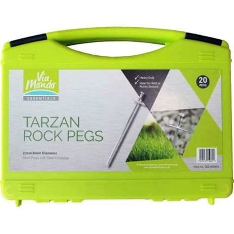 via mondo tent awning hardstanding rock peg set