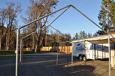 Metal Carport Frame by 10x20 Galvanized Steel Carport Frames Costless Tarps