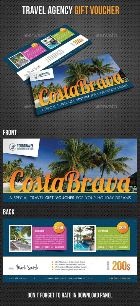 Travel Agency Gift Cards - mockup travel voucher 187 tinkytyler org stock photos graphics