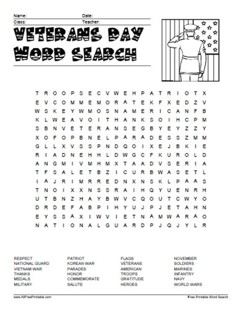 Free Finder With Free Results Veterans Day Word Search Free Printable Search Results