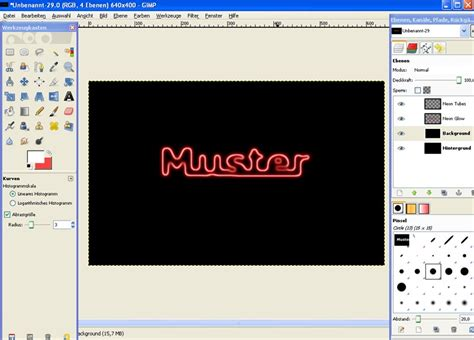 tutorial logo erstellen gimp tutorial neonschrift in gimp erstellen 187 saxoprint blog