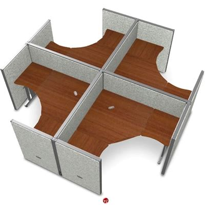 The Office Leader 4 Person L Shape Office Desk Cubicle 4 Person Desk