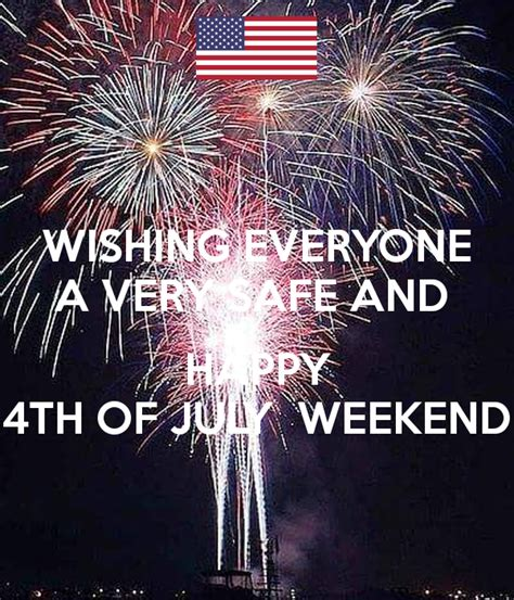 wishing    safe  happy   july weekend poster robin  calm  matic