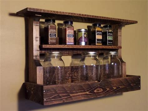 how to make spice racks for kitchen cabinets pallet spice racks for kitchen recycled things