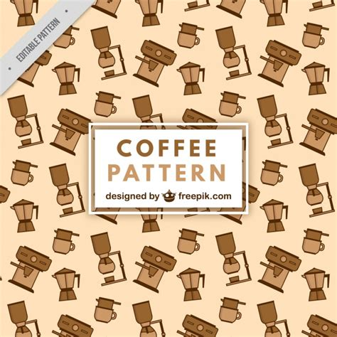 vector pattern maker flat pattern with coffee makers vector free download