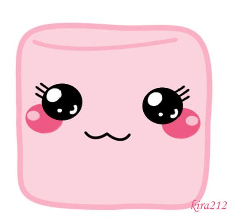 Kawai Pink kawaii pink marshmallow by kira212 on deviantart