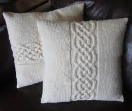 Knitted Cushions Free Patterns Celtic Knot Pillow Cover By Ladyshipdesigns Craftsy