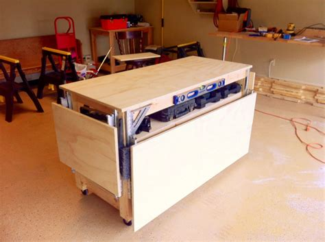 mobile workbench plans  woodworking