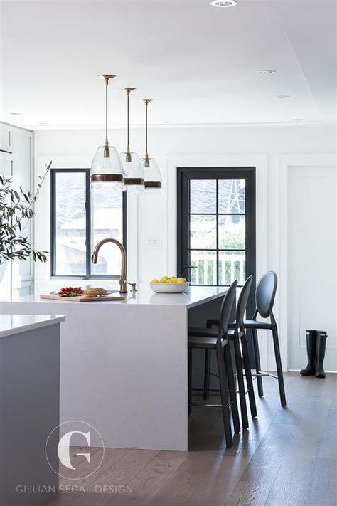 black kitchen island with stools white waterfall kitchen island with black kartell one bar
