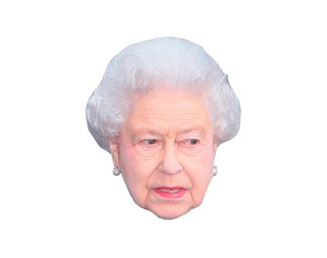 printable masks queen queen elizabeth ii vip celebrity cardboard cutout face mask