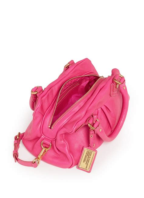 Marc Leather Baby Pink marc by marc classic q baby groovee leather bag in