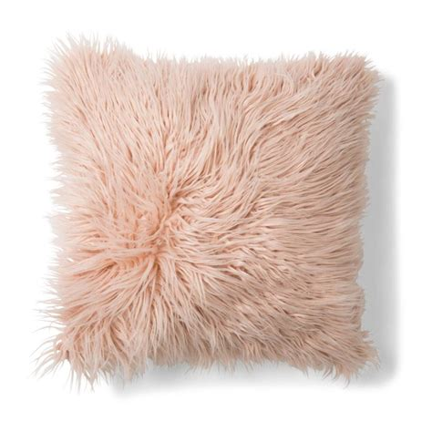 Knot Pillow by Zsa Zsa Faux Fur Cushion Pink Kmart
