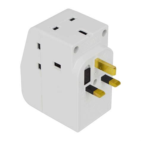 3 way l socket multi plug 2 3 4 5 gang way uk mains extension lead cable