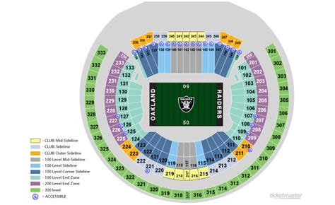 oakland raiders 3d seating oakland raiders seating chart oakland raiders ticket and