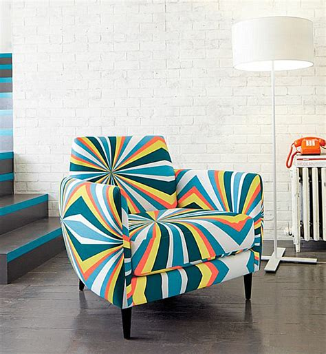 Patterned Club Chair Design Ideas Decorating With Patterned Upholstered Furniture