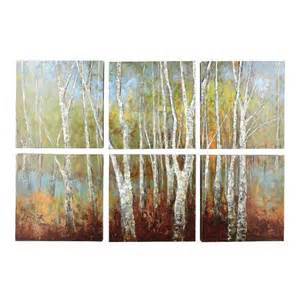 birch tree canvas wall 6 tree shops