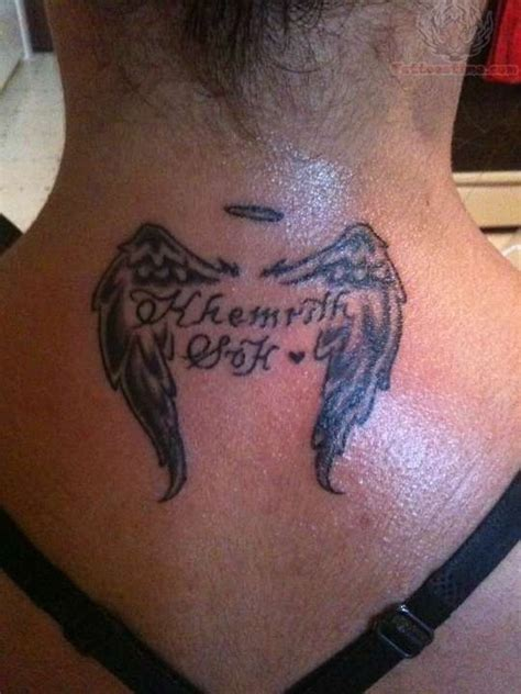 small memory tattoos small wings memorial