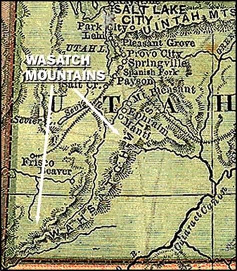 wasatch mountains map pbs the west wasatch mountain