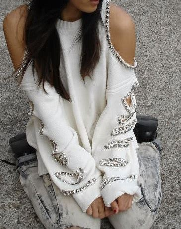 Meow Baggy Ripped 140 best images about cut out shoulder tops on