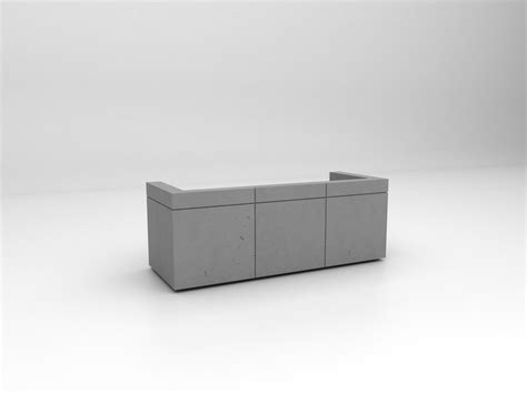 Modular Reception Desk Modular Lightweight Concrete Reception Desk Lintel By Isomi Design Paul Crofts