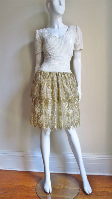 Mary Mcfadden Couture Lace Skirt Dress At 1stdibs Mcfadden Fashion Designer Encyclopedia Clothing