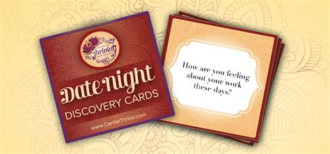 Date Night Gift Cards - date night discovery cards a free gift to you center for thriving relationships