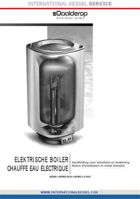 daalderop mono plus water heater boiler manual