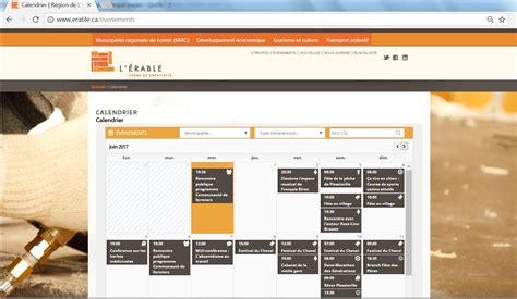 Calendrier Web Toutes Les Activit 233 S De L 201 Rable Affich 233 Es Dans Un