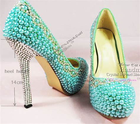 turquoise wedding shoes aquamarine shoes teal pearl wedding shoes platform dress