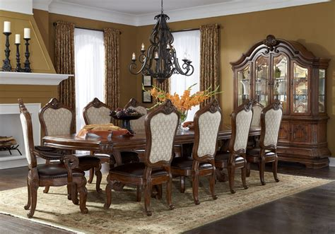 aico dining room set 11 piece aico tuscano melange rectangular dining set