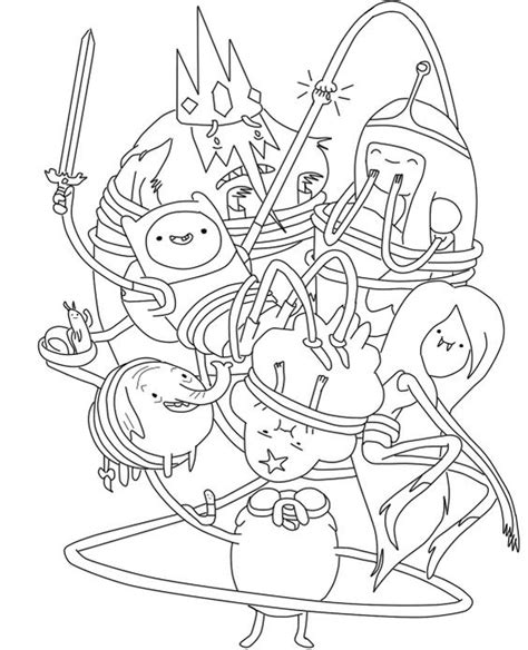 printable adventure time coloring pages coloring me