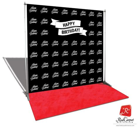 backdrop design happy birthday happy birthday backdrop red carpet kit black 8x8 red