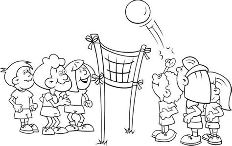 cartoon volleyball coloring page volleyball coloring pages volleyball coloring book pages