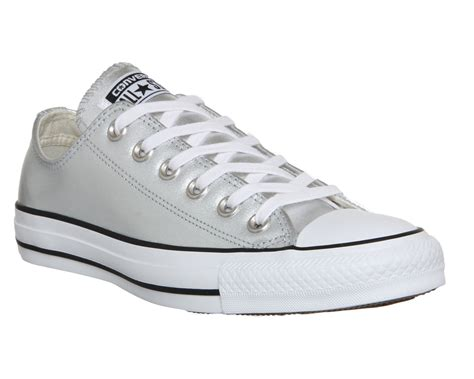 silver converse sneakers buy silver metallic converse all low leather from