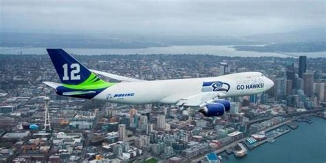 a special seahawks plane flew all washington because that s how seattle rolls