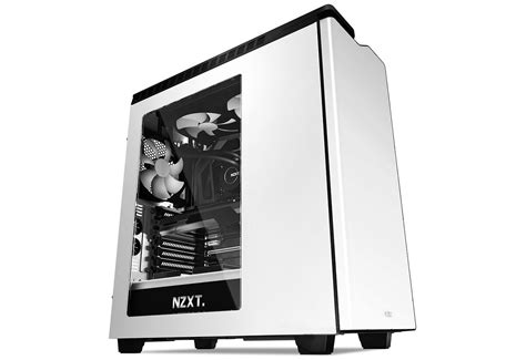 Nzxt H440 Black Black Blue White 1 ca h440w w1 nzxt h440 mid tower atx computer front