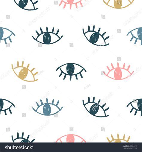 eye pattern website vector hand drawn eye doodles seamless stock vector