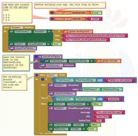pattern lock jquery app inventor tutorials and exles pattern lock pura