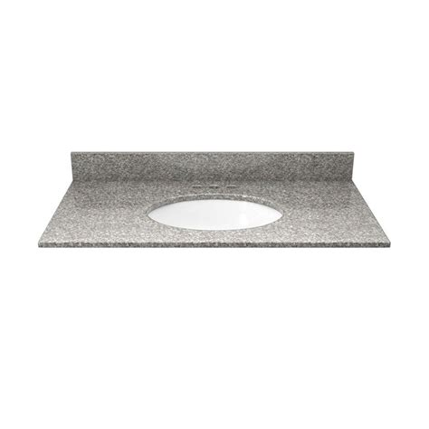 solieque 31 in granite vanity top in burlywood with white