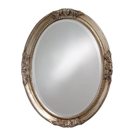 Distressed Kitchen Furniture shop tyler dillon ann silver leaf beveled oval wall mirror