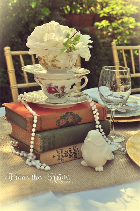 Vintage tea party Bridal/Wedding Shower Party Ideas in