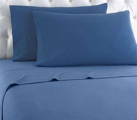 Blue Bed Sheet Set Blue Micro Flannel Sheet Set Micro Flannel Bedding